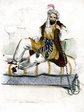 turkish-man-smoking-a-hookah-c19th-century