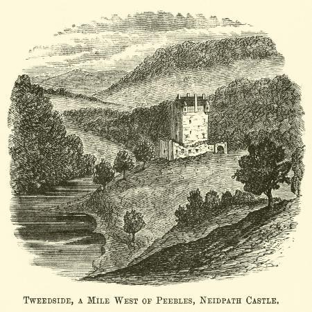 tweedside-a-mile-west-of-peebles-neidpath-castle