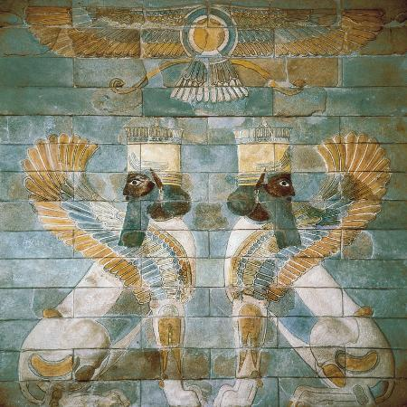 two-androcephalic-sphynxes-or-lions-under-the-great-god-ahura-mazda