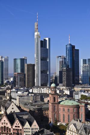 udo-siebig-germany-hessen-frankfurt-skyline-sky-blue-st-paul-s-church