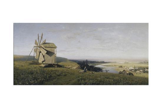 ukrainian-landscape-with-windmill-1882