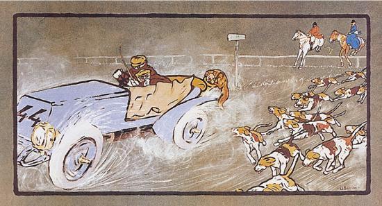 umberto-boccioni-car-and-the-fox-hunt