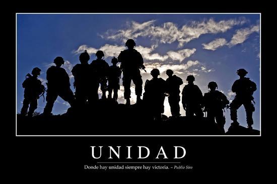 unidad-cita-inspiradora-y-poster-motivacional