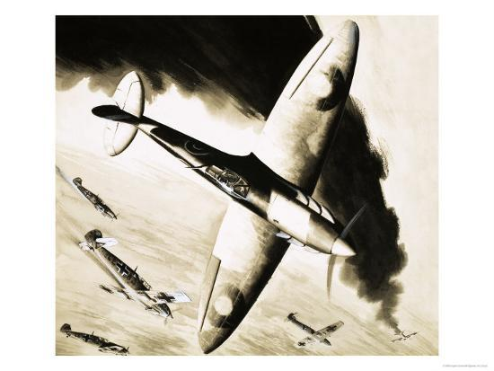 unidentified-spitfire-in-dogfight-with-german-fighters