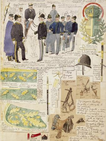 uniforms-of-forestry-administration-of-kingdom-of-italy-color-plate-by-quinto-cenni-1879