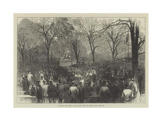 unveiling-the-statue-of-sir-walter-scott-in-central-park-new-york