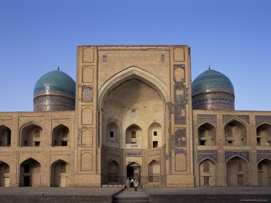 upperhall-facade-of-the-mir-i-arab-madrasah-bukhara-uzbekistan-central-asia