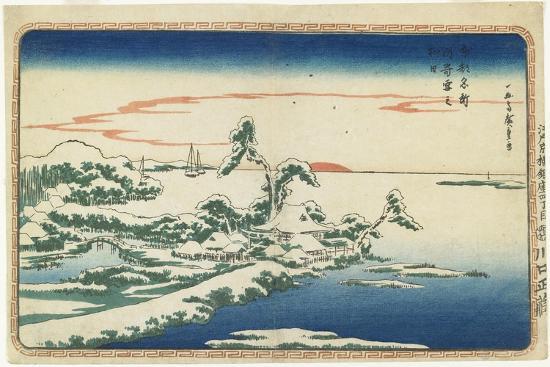 utagawa-hiroshige-new-year-s-day-sunrise-at-susaki-in-snow-c-1831