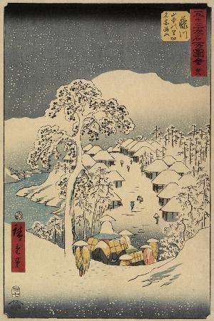 utagawa-hiroshige-no-38-yamanaka-village-in-fujikawa-july-1855