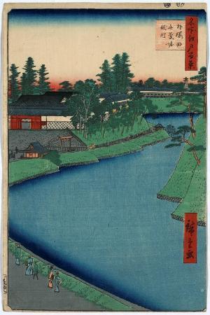 utagawa-hiroshige-sotosakurada-benkeibori-kojimachi
