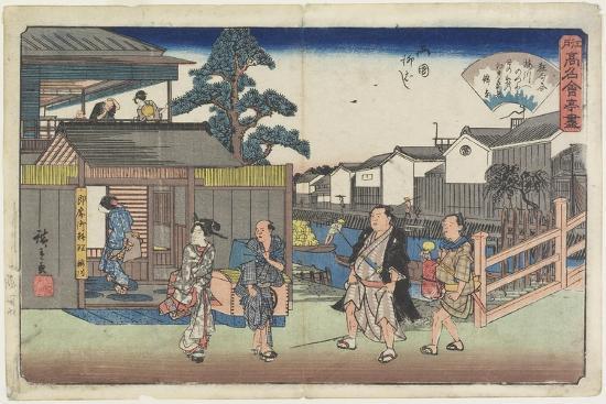 utagawa-hiroshige-umegawa-at-yanagibashi-in-ryogoku-c-1835-1842