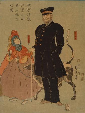 utagawa-sadahide-american-merchant-strolling-in-yokohama-1861