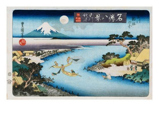 utagawa-toyokuni-ii-autumn-moon-tama-river-from-the-series-eight-views-of-famous-places