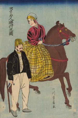 utagawa-yoshikazu-americans-on-an-outing-amerikajin-yuko-no-zu-1860