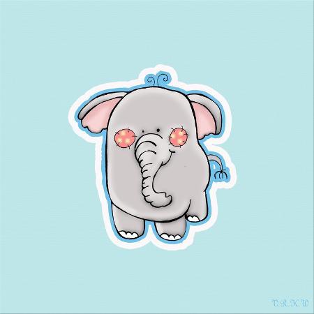 valarie-wade-blue-background-elephant