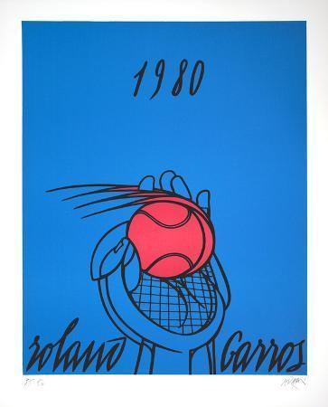 valerio-adami-roland-garros-1980-blue
