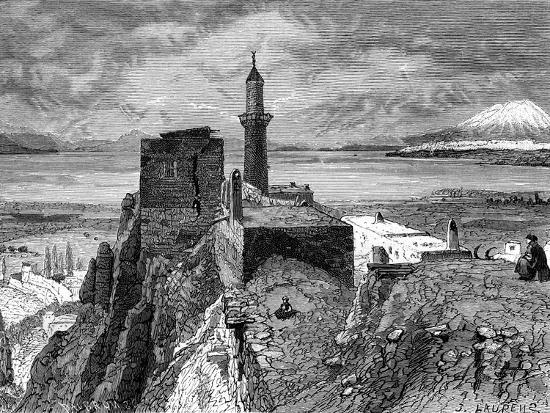 van-lake-and-fortress-19th-century