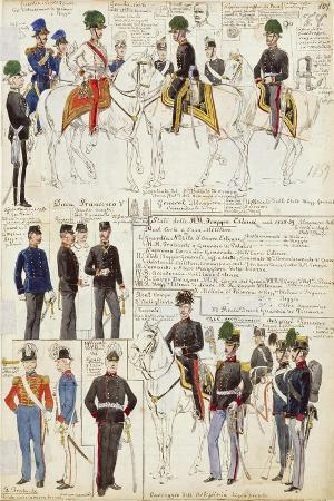 various-uniforms-of-duchy-of-modena-color-plate-1858-1859
