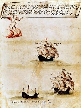 vasco-da-gama-s-fleet-at-sea-1497