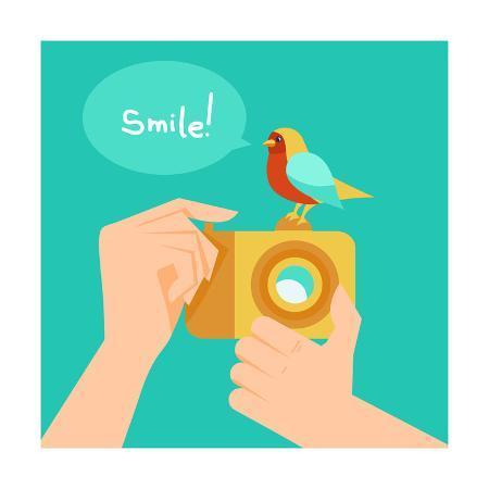 venimo-digital-camera-and-cartoon-bird