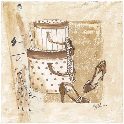 Boites et chaussures art print by v ronique didier laurent - Laminas decorativas vintage ...