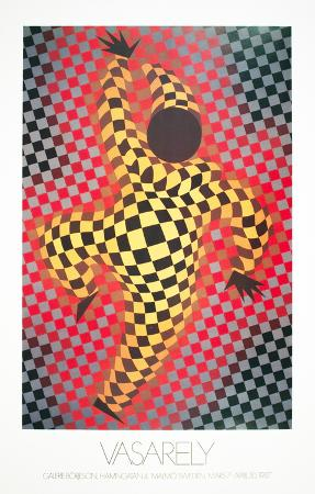 victor-vasarely-clown-red