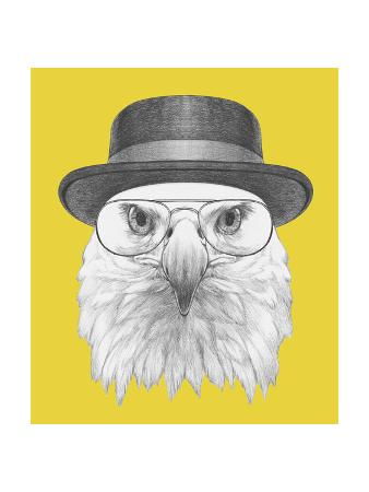 victoria-novak-portrait-of-eagle-with-hat-and-glasses-hand-drawn-illustration