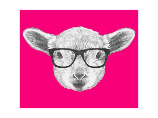 victoria-novak-portrait-of-lamb-with-glasses-hand-drawn-illustration