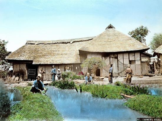 view-of-a-japanese-farm-c-1900