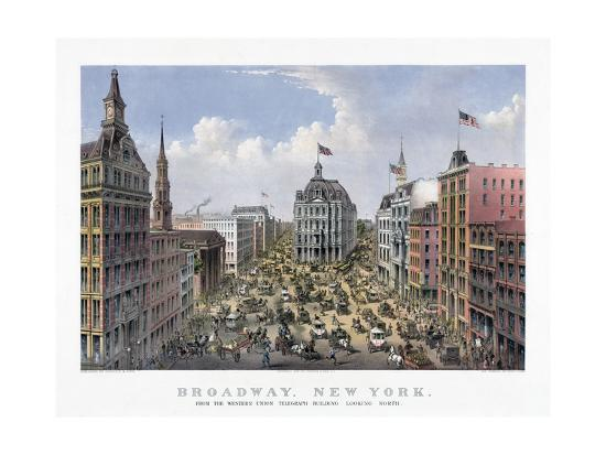 view-of-broadway-by-currier-and-ives-1875