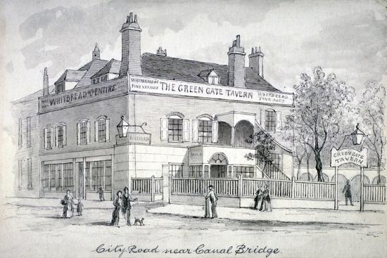 view-of-the-green-gate-tavern-city-road-finsbury-c1850