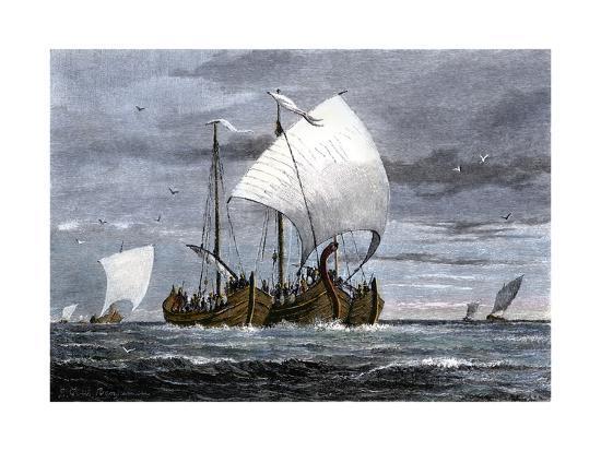 viking-ships-at-sea-with-warriors-on-board