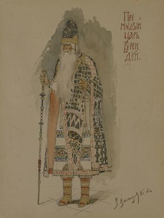 viktor-mikhaylovich-vasnetsov-tsar-berendey-costume-design-for-the-opera-snow-maiden-1885