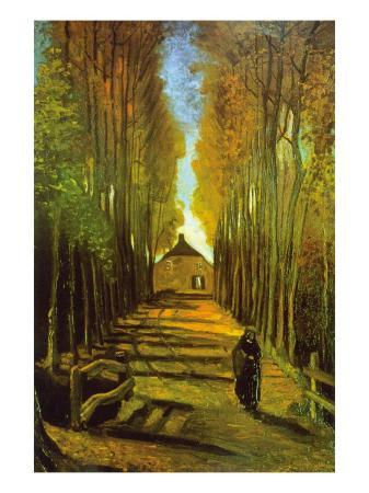 vincent-van-gogh-autumn-tree-lined-lane-leading-to-a-farm-house
