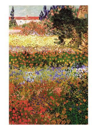 Vincent Van Gogh Flowering Garden With Path