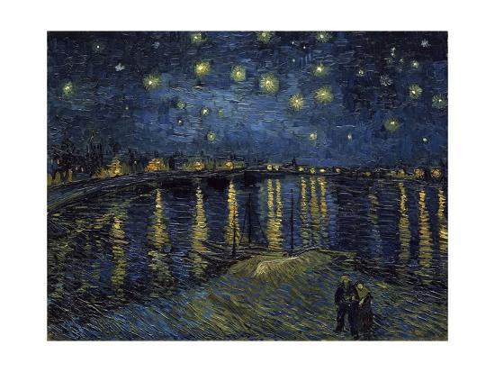 la nuit etoil e starry night giclee print by vincent van gogh at. Black Bedroom Furniture Sets. Home Design Ideas