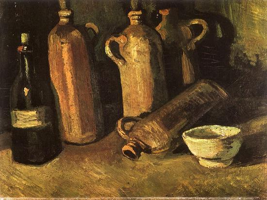 vincent-van-gogh-still-life-with-four-stone-bottles-1884