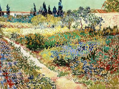 Exceptional Vincent Van Gogh The Garden At Arles 1888