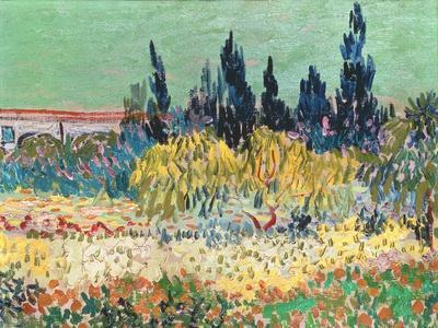 Vincent Van Gogh The Garden At Arles Detail