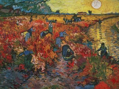 The Red Vineyard at Arles, c.1888 Giclee Print by Vincent van Gogh ...