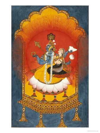 vishnu-and-lakshmi-enthroned-basohli-school-circa-1690