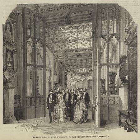 visit-of-the-emperor-and-empress-of-the-french-the-grand-corridor-in-windsor-castle