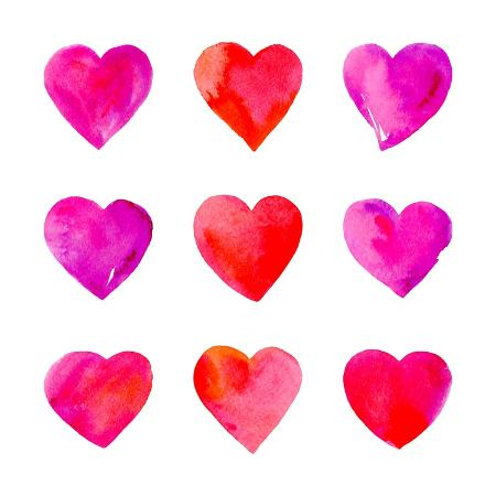 vodoleyka-watercolor-hearts-isolated
