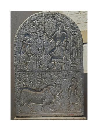 votive-stele-with-bas-reliefs-and-inscriptions-from-tell-el-amarna-limestone