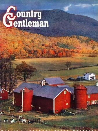 w-c-griffith-red-barns-and-silos-country-gentleman-cover-october-1-1949