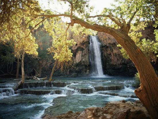 w-e-garrett-scenic-view-of-a-waterfall-on-havasu-creek