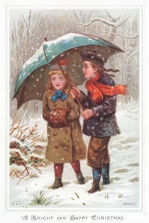 walking-under-umbrella-in-snow-storm-christmas-card