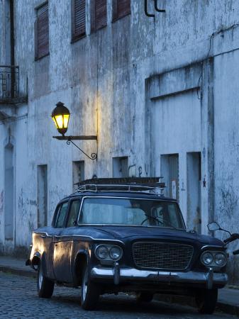 walter-bibikow-colonia-del-sacramento-old-1960s-studebaker-lark-car-on-calle-san-jose-uruguay