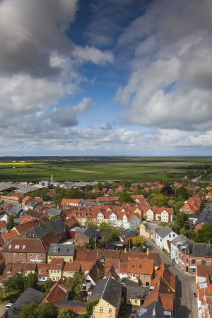 walter-bibikow-denmark-jutland-ribe-elevated-town-view-from-ribe-domkirke-cathedral-tower