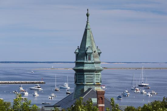 walter-bibikow-massachusetts-cape-cod-provincetown-view-of-town-hall-and-harbor